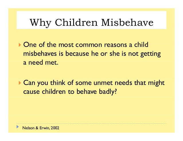 The Four Mistaken Goals of Misbehavior