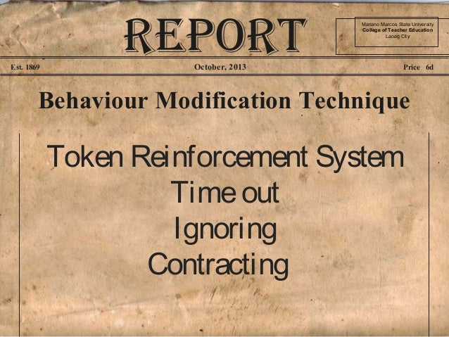 history of behavior modification
