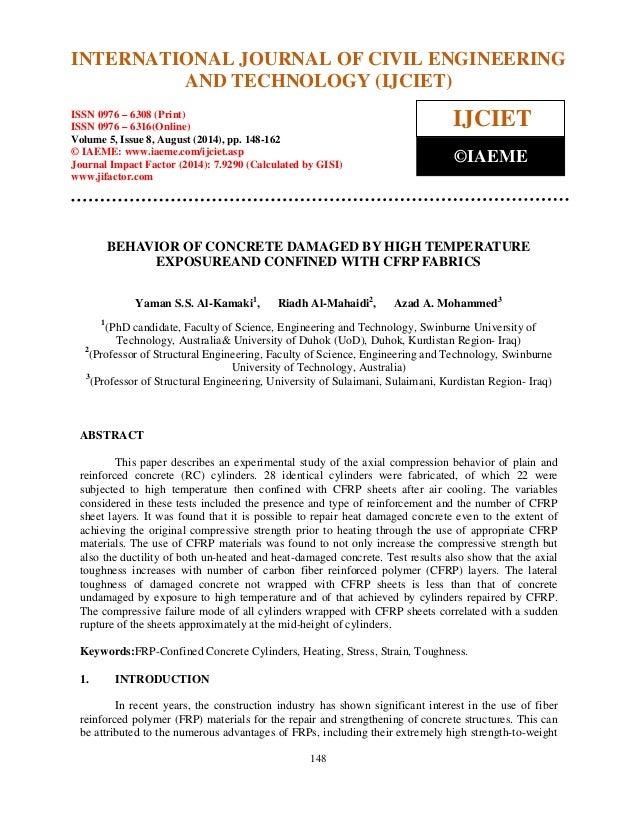 International Journal of Civil Engineering and Technology (IJCIET), ISSN 0976 – 6308 (Print),  ISSN 0976 – 6316(Online), V...