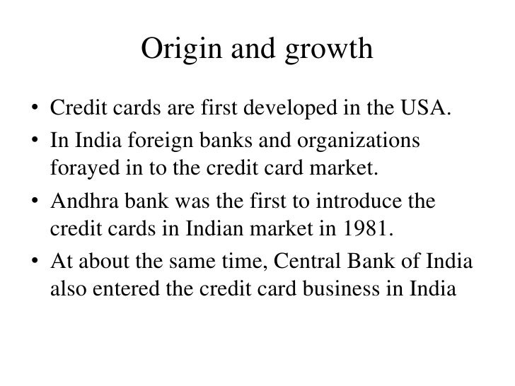 Behavior of users of credit cards 4 origin and growth credit cards reheart Images