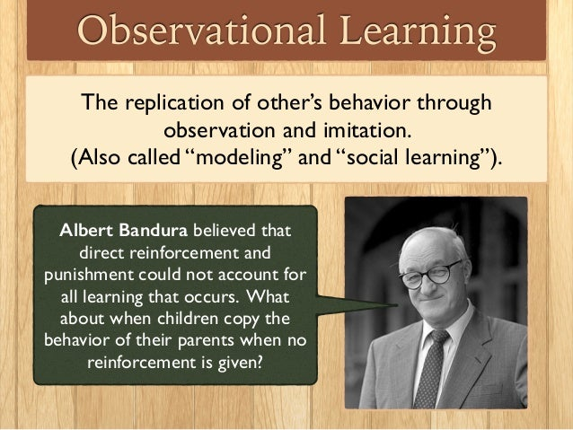 albert bandura observational learning pdf