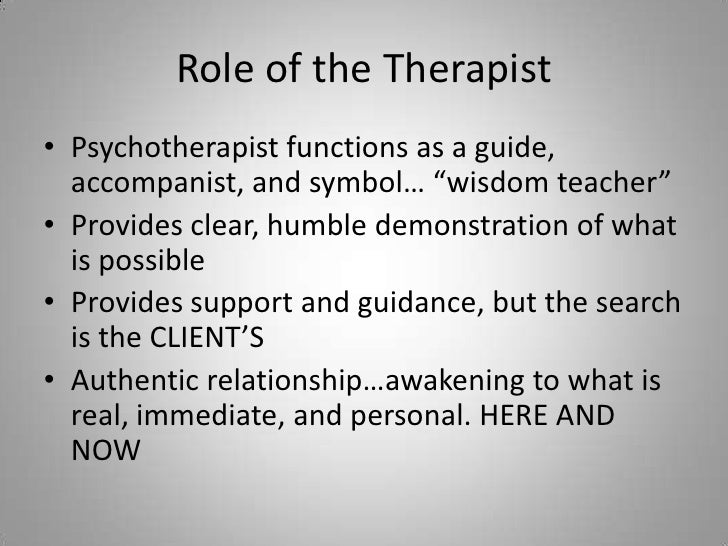 Behavioral And Existential Therapies