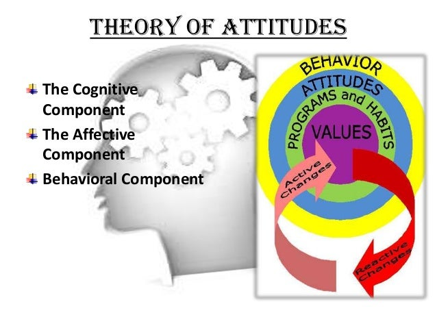 relationship between the affective behavioral and cognitive components of attitude