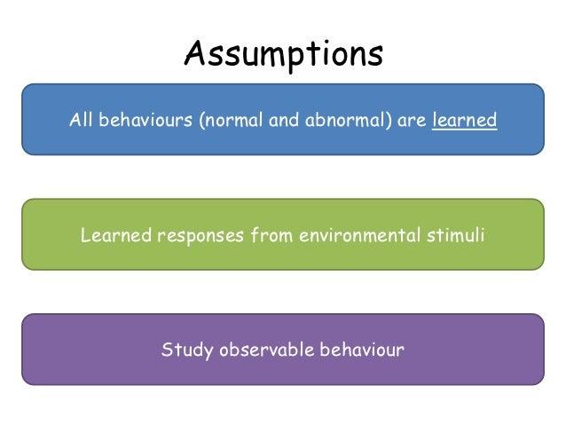 Behavioural approach Slide 2