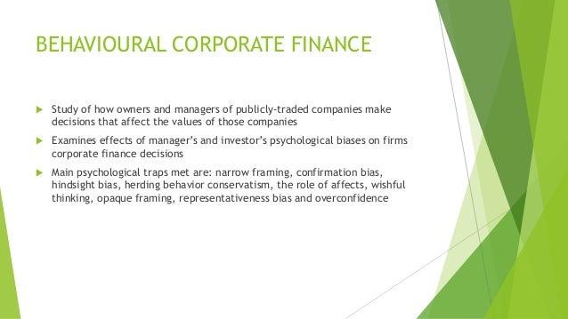 Corporate finance term paper topics