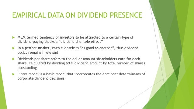 determinants of dividend policy of cement Abstract: dividend is one of the most debatable topics for the researchers many researchers explore the factors of dividend policy many researchers explore the factors of dividend policy the aim of the study is to find out the factors that motivate the dividend policy among the cement industry.
