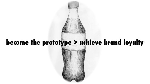 become the prototype > achieve brand loyalty