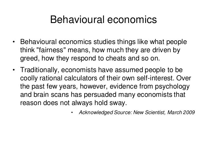 behavioural economics introduction Discussion of behavioral economics note that the introduction of time inconsistency requires the addition of strong assumptions about the way that different selves interact in order to complete the model, behavioral economists resort to the standard.
