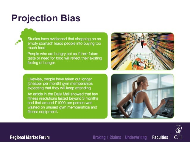 What is projection bias?