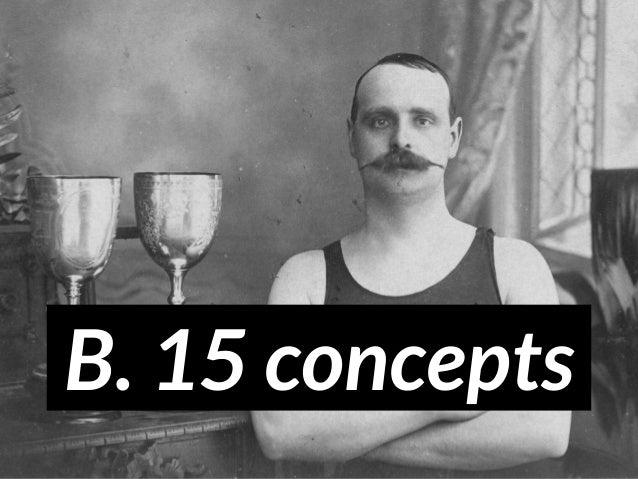 B. 15 concepts