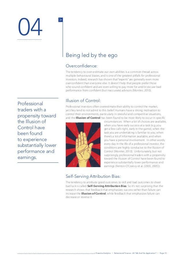 Behavioural finance phd thesis