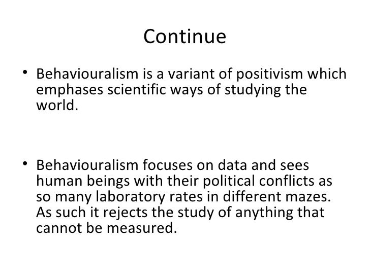 post behaviouralism