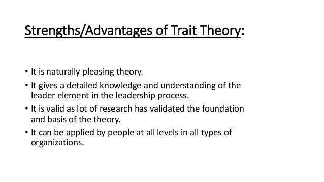 disadvantages of trait theory