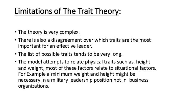 limitations of trait theory