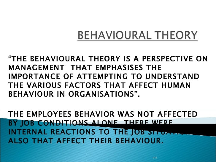 outline and evaluate the behavioural model The behavioural model concentrates only on behaviours and the responses a person makes to their environment, these can be external or internal - outline and evaluate the behavioural approach to psychopathology introduction.