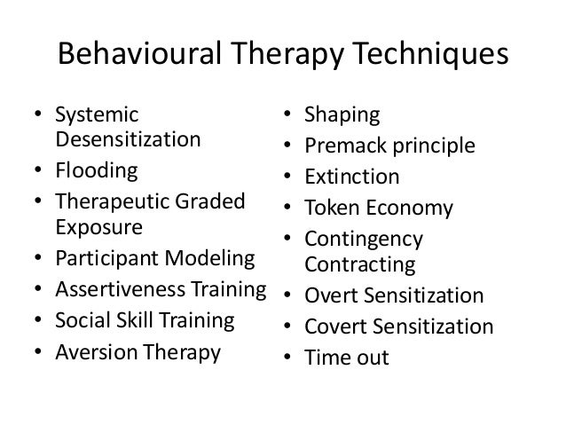 Ppt behavior therapy techniques powerpoint presentation id:1483990.
