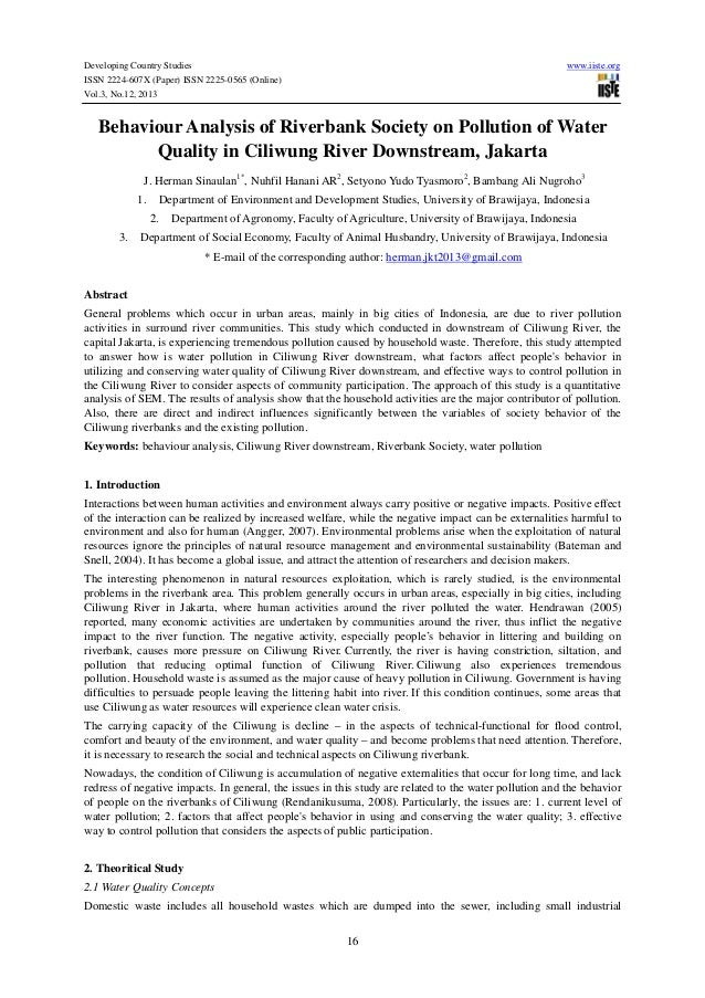 Developing Country Studies ISSN 2224-607X (Paper) ISSN 2225-0565 (Online) Vol.3, No.12, 2013  www.iiste.org  Behaviour Ana...
