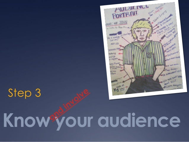 Know your audience Step 3