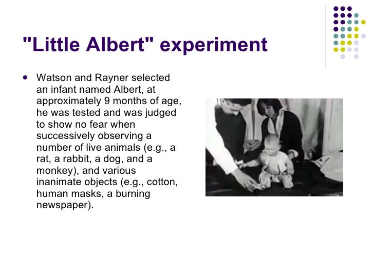 (Answered) Watson's experiment with Little Albert ...