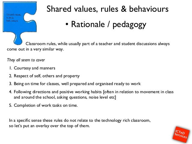 classroom management rationale A practical guide and set of principles for classroom management and management of student conduct.