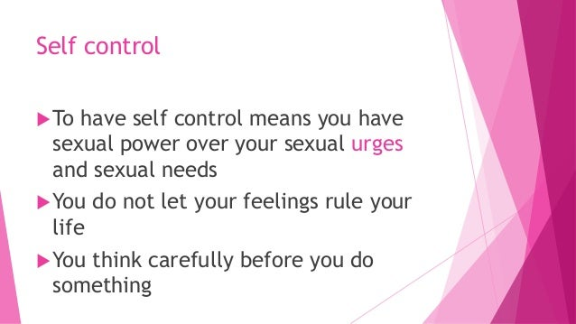 What to do when you have sexual urges