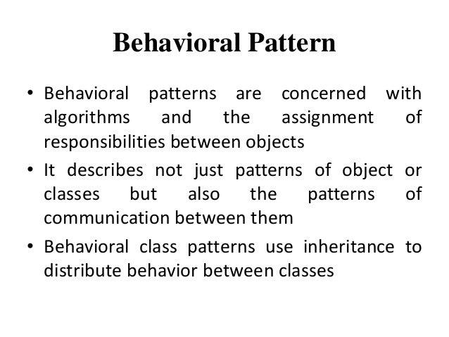 Behavioral Pattern ByPriyanka Pradhan Extraordinary Behavioral Patterns
