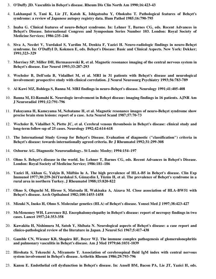 Behçet's disease - Wikipedia