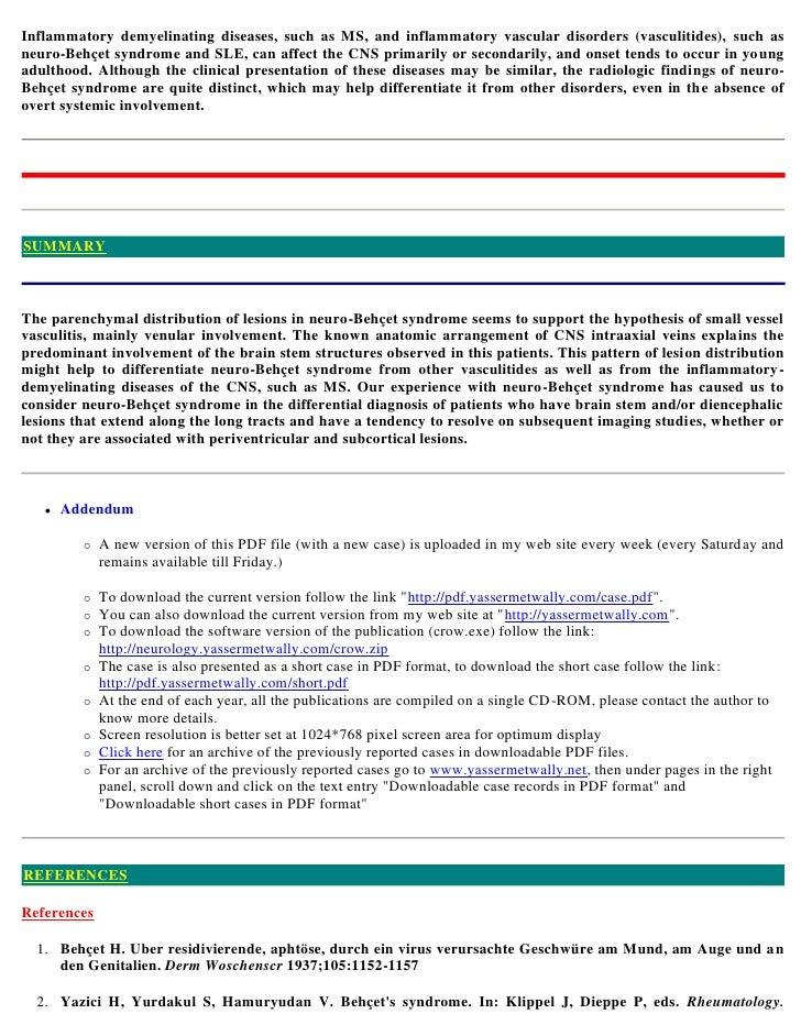 Case Report: Intestinal complications of Behçet's disease