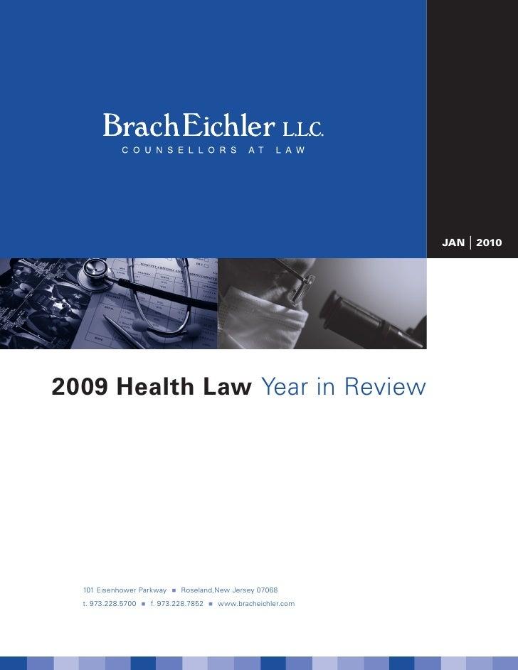 Brach Eichler L.L.C. Healthcare Year in Review