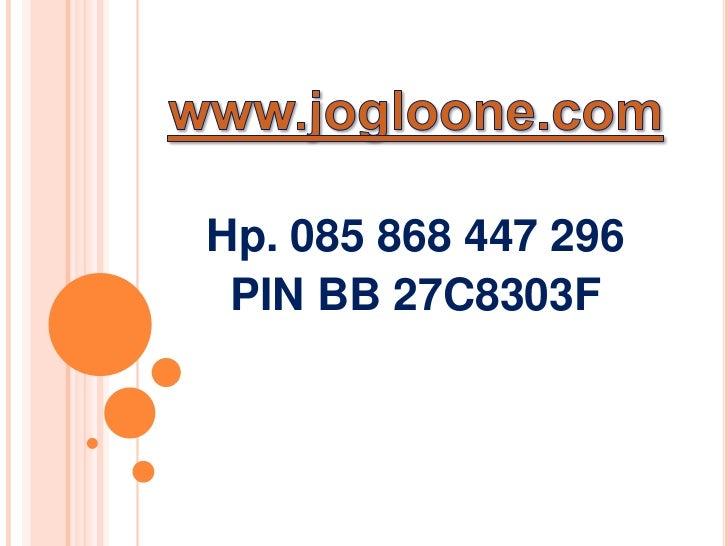 Hp. 085 868 447 296 PIN BB 27C8303F
