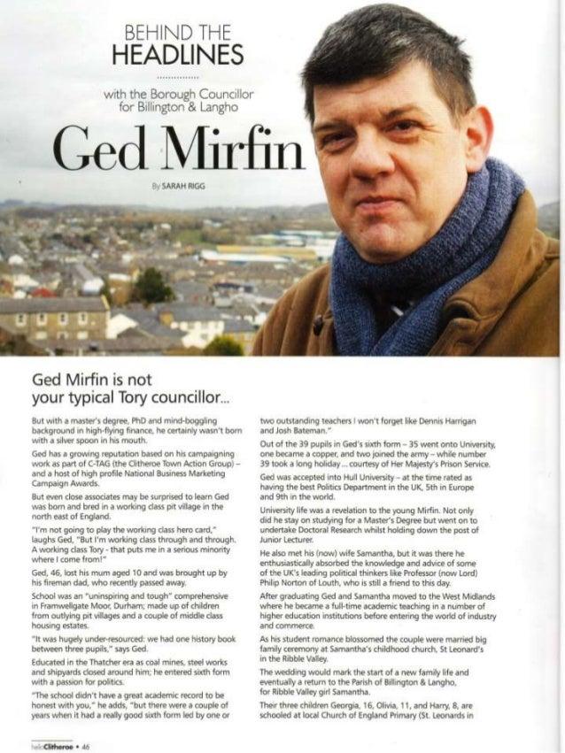 Behind the headlines   ged mirfin