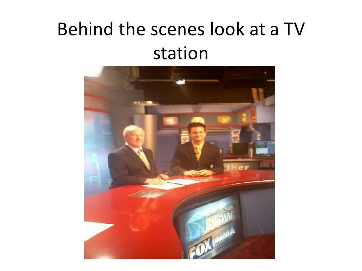 Behind the scenes look at a TV station<br />