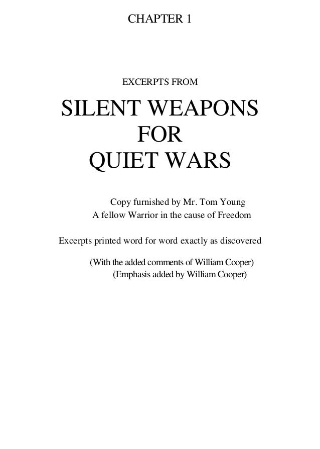 silent weapons for quiet wars william cooper pdf