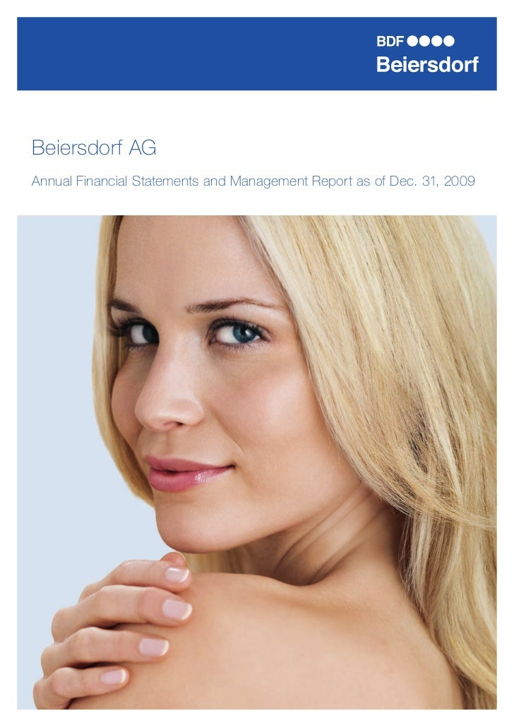 Beiersdorf AGAnnual Financial Statements and Management Report as of Dec. 31, 2009