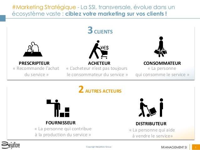 MANAGEMENT SI  5  Copyright Beijaflore Group  #Marketing Stratégique - La SSI, transversale, évolue dans un écosystème vas...
