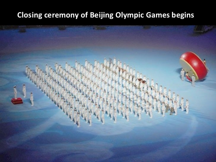 Closing ceremony of Beijing Olympic Games begins