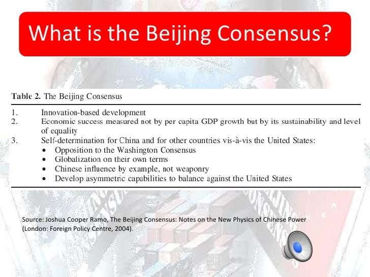 'beijing consensus' and the experience of The beijing consensus has 14 ratings and 2 reviews rachel said: not as good as age of unthinkable, but good reading for anyone interested in our possibl.