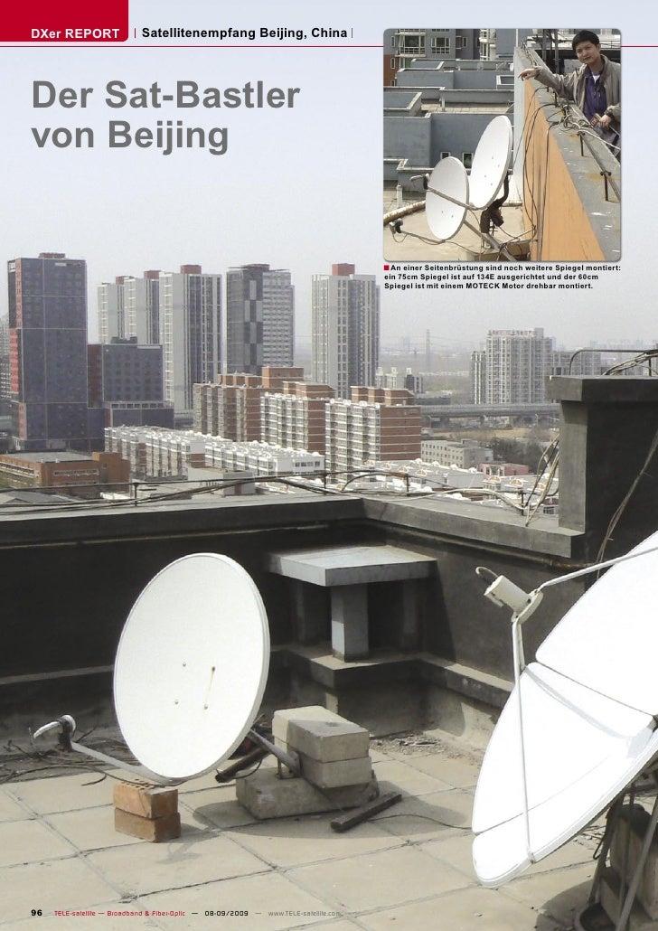 DXer REPORT                 Satellitenempfang Beijing, China     Der Sat-Bastler von Beijing                              ...