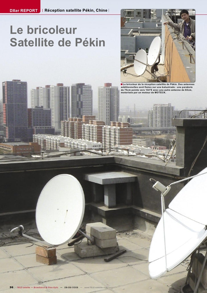 DXer REPORT                 Réception satellite Pékin, Chine     Le bricoleur Satellite de Pékin                          ...