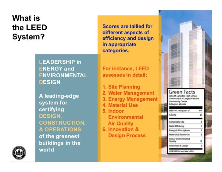 Gunnar hubbard leed vs three star green building rating for What is leed