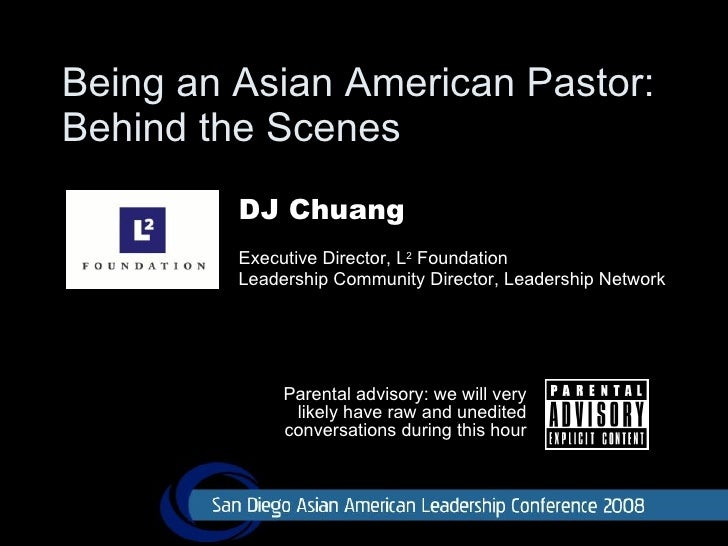 Being an Asian American Pastor:  Behind the Scenes Parental advisory: we will very likely have raw and unedited conversati...