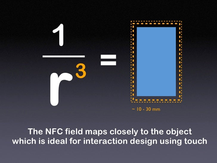 1                      =         r      3                               ~ 10 - 30 mm       The NFC field maps closely to t...