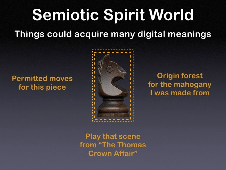Semiotic Spirit World Things could acquire many digital meanings                                             Origin forest...