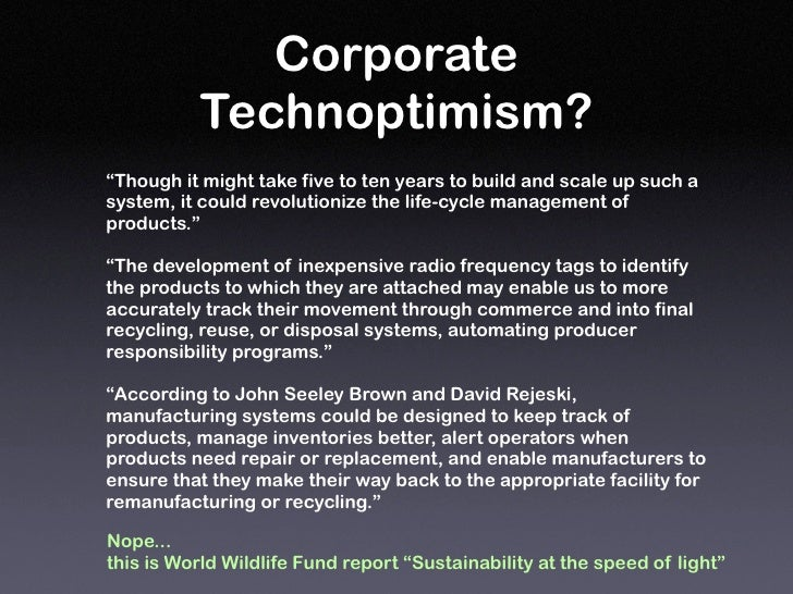 """Corporate           Technoptimism? """"Though it might take five to ten years to build and scale up such a system, it could r..."""