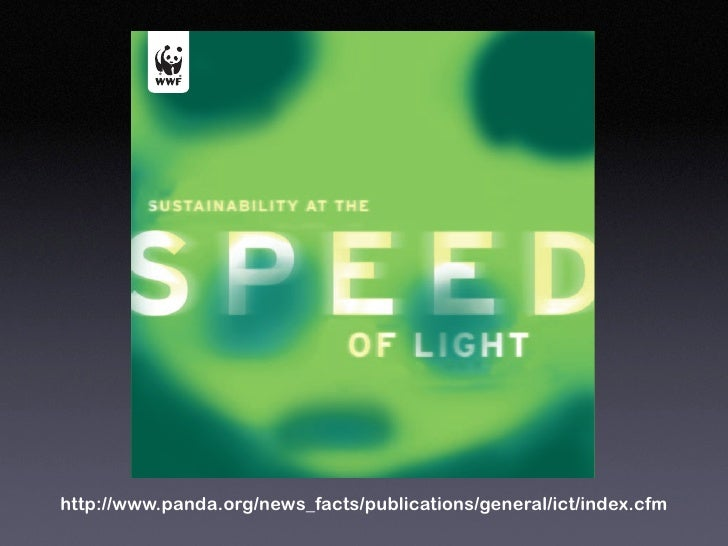 SUSTAINABILITY AT THE SPEED OF LIGHT DENNIS PAMLIN        to the We have  to cont-  the role   respec-   the gap akers in ...