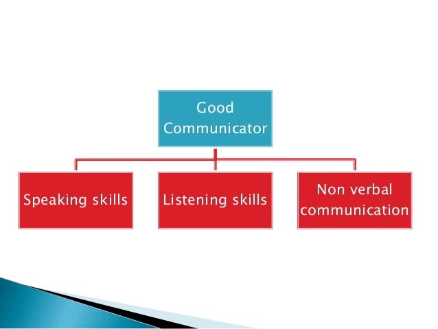 good communicator Good communication skills consist of verbal and non-verbal modes of transferring information to another person as well as active listening skills to absorb what.