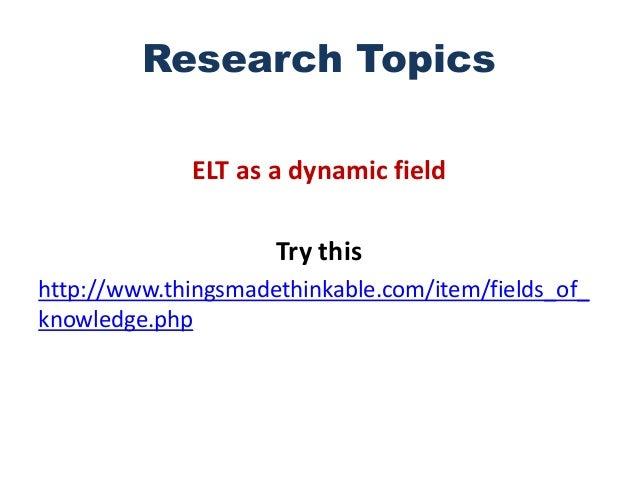elt research topics