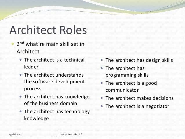 Architect ...