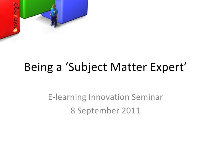 how to become a subject matter expert
