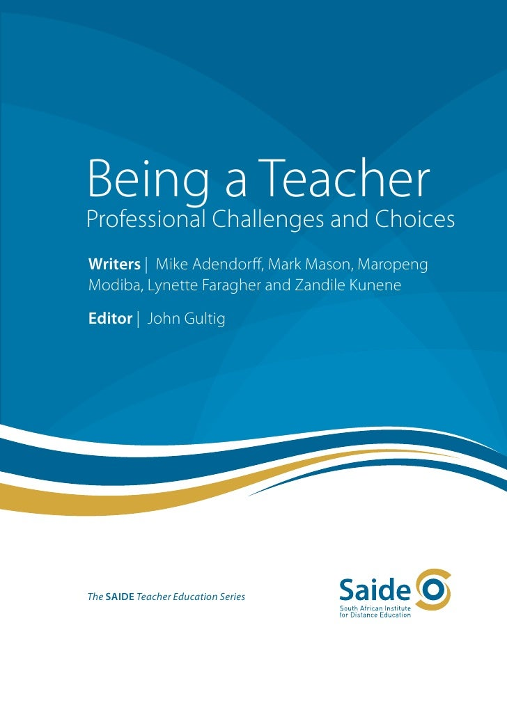 Being a teacher cover title and imprint pages with contents list a sciox Choice Image